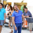 Henri Leconte lors du tournoi de pétanque organisé à l'occasion de la 3ème édition du Classic Tennis Tour, sur la place des Lices à Saint-Tropez le 11 juillet 2013