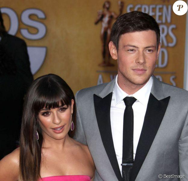 Lea Michele et Cory Monteith - 19e cérémonie des Screen Actors Guild Awards à Los Angeles, le 27 janvier 2013.