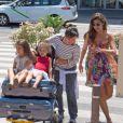 Ronaldo, sa compagne Paula Morais et ses enfants sont arrivés à Ibiza le 16 juillet 2013