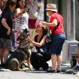 "Jennifer Aniston sur le tournage du film ""Squirrels to the Nuts"" à New York le 17 juillet 2013."