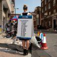 Effervescence devant le St Mary Hospital dans Paddington à Londres, en juillet 2013, dans l'attente de l'accouchement de Kate Middleton