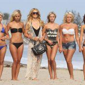 Les Ch'tis à Hollywood avec Paris Hilton : Shooting sexy sur la plage de Malibu
