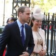 Le duc et la duchesse de Cambridge à Westminster le 4 juin 2013, pour la célébration des 60 ans du couronnement d'Elizabeth II.