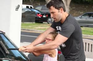 Ben Affleck : Tendre complicité avec la jolie Violet, à qui il confie sa voiture