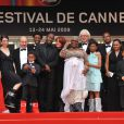 L'équipe du film La Première Etoile, dont le réalisateur-acteur Lucien Jean-Baptiste et Michel Jonasz au Festival de cannes 2009