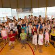 Tony Estanguet lors de sa visite au Village Kinder, le 23 juillet 2013