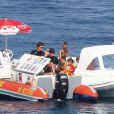 Nicole Richie profitant de vacances en famille à St-Tropez, le 26 juillet 2013.
