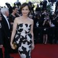 """Kristin Scott Thomas - Montée des marches du film ""The Immigrant"" lors du 66ee Festival du film de Cannes. Le 24 mai 2013."""