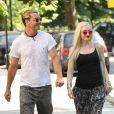 Gwen Stefani et son mari Gavin Rossdale emmenent leurs enfants Zuma et Kingston au zoo à Londres, le 1eraoût 2013.