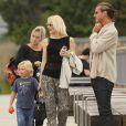 Gwen Stefani, son mari Gavin Rossdale et leurs enfants Kingston et Zuma poursuivent leur visite des lieux symboliques de Londres, le 2août 2013.