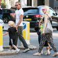 Gwen Stefani, Gavin Rossdale et leurs deux enfants à Londres, le 1eraoût 2013.