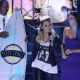 Russell Westbrook, Demi Lovato Lovato et Michelle Rodriguez aux Teen Choice Awards 2013 au Gibson Amphitheatre de Los Angeles, le 11 août 2013.