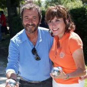 Bernard Montiel et Liane Foly : Stars de la pétanque avec la sexy Claudia Romani