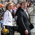 Le prince Friso d'Orange-Nassau et la princesse Mabel le 30 avril 2008, célébrant la Fête de la reine à Franeker.