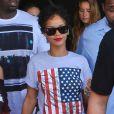 Rihanna à la sortie du Club Space à Miami, le 11 août 2013.