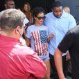 Rihanna quitte le Club Space après une soirée arrosée à Miami, le 11 août 2013.