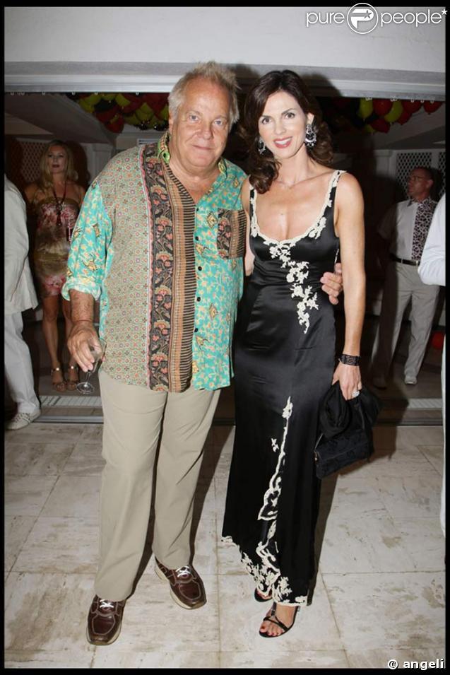 Massimo Gargia et Caroline Barclay chez Tony Murray à Saint Tropez