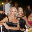 Denise Rich et Ivana Trump chez Tony Murray à Saint Tropez