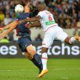 Zlatan Ibrahimovicau Parc des Princes pour le match entre le PSG et AC Ajaccio (1-1), le 18 août 2013.
