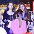 Isabel Preysler et ses filles Tama Falco et Ana Boyer au concert de son fils Enrique Iglesias au Festival Starlite à Marbella, le 17 août 2013.