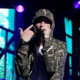 Eminem en concert pour l'anniversaire des 30 ans de la marque G-Shock. New York, le 7 août 2013.