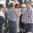 Sandra Ortega Mera le 17 août 2013 aux funérailles de Rosalia Mera, cofondatrice de l'empire Inditex (Zara, Bershka, Massimo Dutti) décédée le 15 août 2013, célébrées à la paroisse Santa Eulalia de Liáns d'Oleiros, commune de la région de La Corogne.