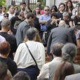 Obsèques de Rosalia Mera, cofondatrice de l'empire Inditex (Zara, Bershka, Massimo Dutti) décédée le 15 août 2013, célébrées à la paroisse Santa Eulalia de Liáns d'Oleiros, commune de la région de La Corogne, le 17 août.