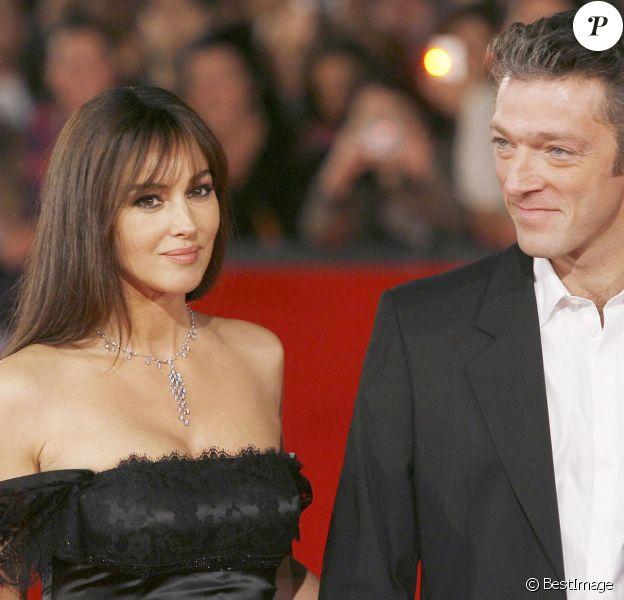 Monica Bellucci et Vincent Cassel à Rome en octobre 2008.