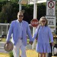 Roger Moore et sa femme Kristina Tholstrup à Venise, le 26 août 2013.