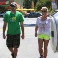 Britney Spears et son petit ami David Lucado vont déjeuner au restaurant à Encino, le 25 août 2013.