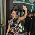 """""""La princesse Victoria de Suède arrive à la cérémonie de remise du Polar Music Prize 2013 à Youssou N'Dour et Kaija Saariaho, le 27 août 2013 à Stockholm"""""""