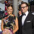 """""""La princesse Victoria de Suède et le prince Daniel à la cérémonie de remise du Polar Music Prize 2013 à Youssou N'Dour et Kaija Saariaho, le 27 août 2013 à Stockholm"""""""