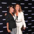 Emma de Caunes et Mademoiselle Agnès lors de la soirée de rentrée Canal + organisée à Paris, le 28 août 2013