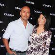 Jeannette Bougrab et Eric Judor lors de la soirée de rentrée Canal + organisée à Paris, le 28 août 2013