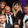 Jean-Michel Aphatie, Daphné Bürki et Doria Tillier lors de la soirée de rentrée Canal + organisée à Paris, le 28 août 2013