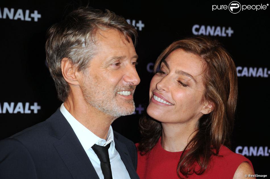 Antoine De Caunes et Daphné Roulier lors de la soirée de rentrée Canal + organisée à Paris, le 28 août 2013