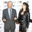 Clint Eastwood et Dina à New York, le 11 octobre 2010.