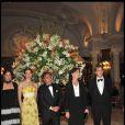 Tatiana Santo Domingo et Andrea Casiraghi, avec Charlotte Casiraghi, Peter Bogaardt, Caroline de Hanovre le 7 avril 2011 au gala annuel de l'Amade à Monaco