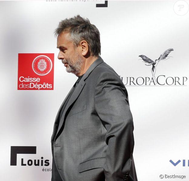 Luc Besson lors de la conférence de presse de l'inauguration de la Cité du cinéma à Saint-Denis le 21 septembre 2012