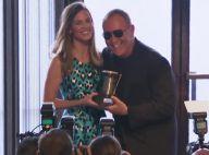 Hilary Swank : Ravissante pour le créateur Michael Kors, avant la Fashion Week