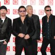 Bono, Larry Mullen Jr, Adam Clayton et The Edge de U2 à Londres, novembre 2011.