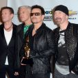 Larry Mullen Jr, Adam Clayton, Bono and The Edge de U2 aux Billboard Music Awards à Las Vegas, le 22 mai 2011.