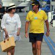 Carmen Martinez-Bordiu avec son troisième mari José Campos à Minorque en juillet 2011