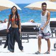 Noah Becker, fils de Boris, et sa petite amie Larissa (Lary) sur une plage de Miami le 6 septembre 2013.