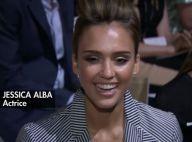 Fashion Week : Jessica Alba, ravissante, applaudit Naomi Campbell