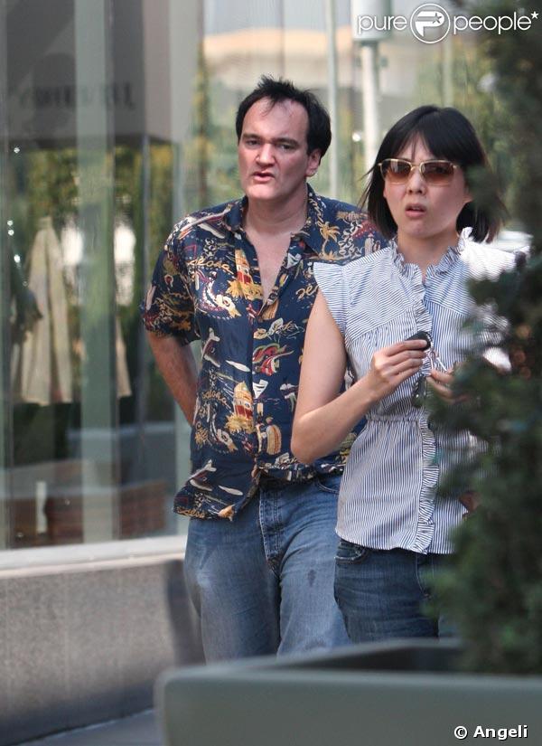 Quentin Tarantino et deux amies au Caffe Primo