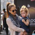 Jessica Alba et sa fille Haven au cours d'une sortie shopping dans le quartier de SoHo. New York, le 10 septembre 2013.