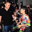 Rihanna et son garde du corps, complices à Londres le 11 septembre 2013.