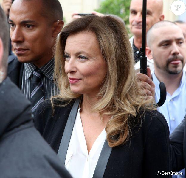 Valérie Trierweiler lors des journées du patrimoine à l'Elysée le 14 septembre 2013