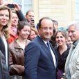 François Hollande et Valérie Trierweiler lors des journées du patrimoine le 14 septembre 2013 à l'Elysée